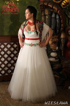regional wedding dress, folk regionalna suknia ślubna, podhalanka