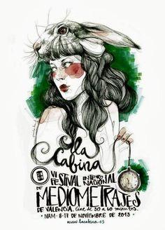 Paula Bonet illustrator, for the Valencia La Cabina short film festival. Art And Illustration, People Illustration, Watercolor Girl, Watercolor Portraits, Life Drawing, Figure Drawing, Paula Bonet, Expo, Signs