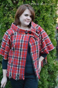 Tutorial: Make a Blanket Cape @ www.reesedixon.com