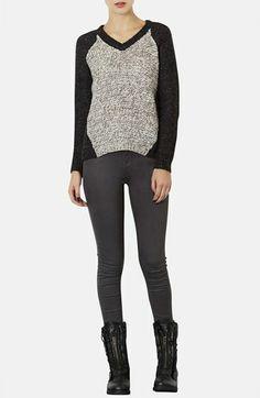 Topshop Marled Knit V-Neck Sweater | Nordstrom