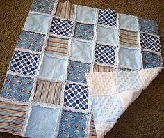 Minky Rag Squares -- quilt TUTORIAL