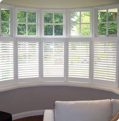 Plantation Shutters Prove to be a Contemporary Covering for Bay Window