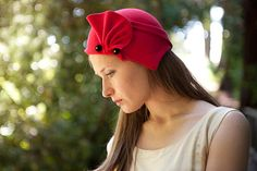 Bright red by behidadolicmillinery on Etsy
