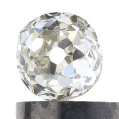 Diamond loose old mine cut .38 carat antique vintage   L   Si1 / Si2   antique cushion brilliant cut diamond   circa 1800's by DavidJThomasJewelry on Etsy