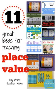 11 Great Ideas for Teaching Place Value from Boy Mama Teacher Mama