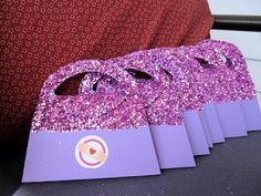 Updates: Doc McStuffins party revealed! Good ideas...use photoshop purse custom stamp shape to make favor bags