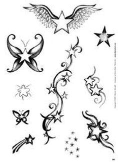 Unendlichkeitssymbol Tattoos, Dope Tattoos, Star Tattoos, Flower Tattoos, Body Art Tattoos, Tattoo Drawings, Tatoos, 3 Stars Tattoo, Tattoo Etoile
