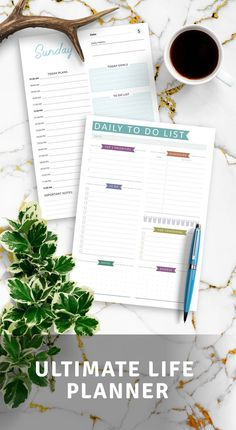 Keep all your tasks in order with this collection of To Do Lists. Set out a weekly, monthly or yearly plan. Getting organized and focused can make all the difference. To Do Planner, Life Planner, Note Doodles, Todo List, Planner Template, Study Tips, Priorities, Getting Organized, Templates
