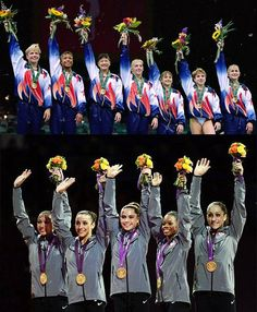 birdwings: andrainstorm: The two gold teams: Magnificent Seven Fab Five Sobbing. I am so not emotionally equipped for the Olympics. Team Usa Gymnastics, Olympic Gymnastics, Olympic Sports, Olympic Team, Rhythmic Gymnastics, Olympic Games, 2012 Summer Olympics, Usa Olympics, Fab Five