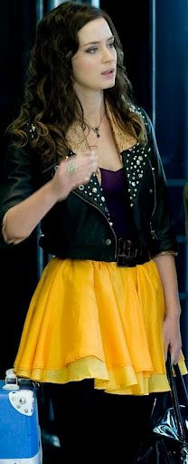 Emily Blunt in the movie Wild Target. Love the yellow skirt!
