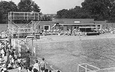 Brockwell Park Lido, Brockwell Park, Lambeth, London 1961 - the year I was born - I spent most of my childhood here :-)