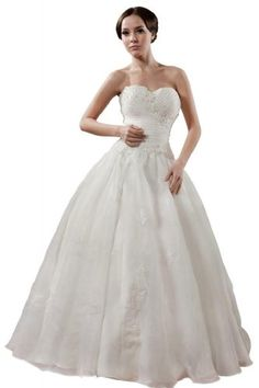 GEORGE BRIDE Organza Sweetheart Ruched Wedding Dress Size 14 White GEORGE BRIDE,http://www.amazon.com/dp/B00AWM674E/ref=cm_sw_r_pi_dp_Uy1Esb1DGHV0G7X6