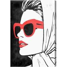 Oliver Gal Retro Glam II Canvas Wall Art ($204) ❤ liked on Polyvore featuring home, home decor and wall art