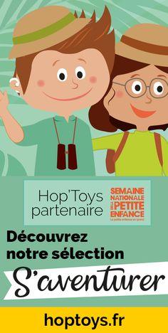 """S'aventurer !"""" Une fois de plus, la thématique de la Semaine nationale de la petite enfance fait écho à tout ce en quoi Hop'Toys croit et promeut pour l'éveil de tout-petits.  S'aventurer, explorer, expérimenter, essayer, se tromper, recommencer, tâtonner, patouiller... et à travers tout ça : apprendre ! Apprendre avec tous ses sens, apprendre de manière active, apprendre en s'amusant ! Explorer, Active, Family Guy, Activities, Begin Again, Big Little, Fun Learning, Classroom Management, Infancy"""