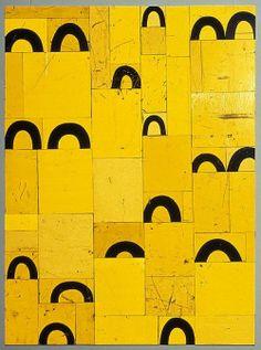 'Birdsong' by New Zealander/Australian artist Rosalie Gascoigne retro reflective roadsign on wood, 122 × via Roslyn Gallery Yellow Art, Mellow Yellow, Yellow Black, Color Yellow, Colour, Modern Art, Contemporary Art, Art Brut, Arte Popular