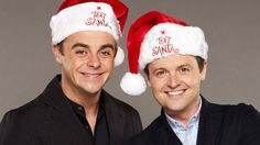 Text Santa: Ant and Dec. The hats suit them so well!