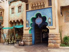 The Agrabah marketplace outside Aladdin's house