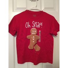 Kids Christmas Tshirt Never Been Worn This is a funny shirt for kids. It is a little short for an adult to wear. The sticker is what was on it, the tags however are not. Tops Tees - Short Sleeve