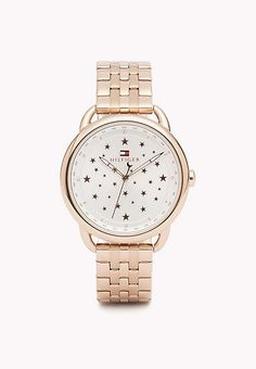 Metal Strap Tommy Hilfiger Watch. Rose Gold Plated Metal