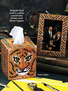 I'll have to see if this is on my husband's Father's Day list. Tissue Box Covers, Tissue Boxes, Day List, Desk Set, Plastic Canvas, Needlepoint, Whiskey Bottle, Fathers Day, Handmade Gifts