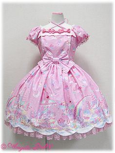 *BNWT* Milky Planet OP +HeadBow Set in Pink « Lace Market: Lolita Fashion Sales and Auctions