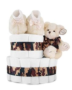 Camouflage Diaper Cake