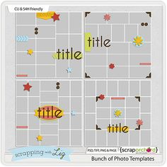 Bunch of Photo Templates by Scrapping with Liz