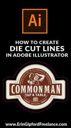 How To Create Die Cut Lines in Adobe Illustrator- In this Adobe Illustrator Tutorial I will show you how to easily create a custom shape die cut line around your vector artwork. Commonly used for custom shape stickers and/or labels. Web Design, Freelance Graphic Design, Graphic Design Tutorials, Graphic Design Inspiration, Vector Design, Creative Inspiration, Book Design, Design Trends, Design Ideas