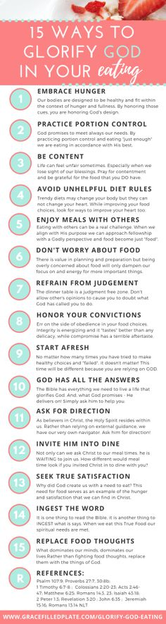 15 Ways to Develop a Healthy, God-Honoring Relationship with Food Christian Living, Christian Faith, Christian Women, Christian Quotes, Bible Scriptures, Bible Quotes, Wisdom Quotes, Faith Quotes, Teen Quotes