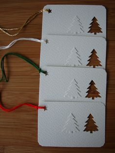 cute tag idea...using a small punch I would use different colors and mix up the trees though