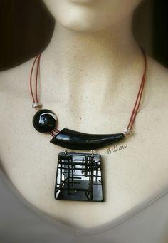 Beautiful polymer clay art jewelry