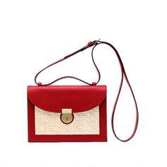 Kate Spade Saturday  Square Straw Crossbody Bag