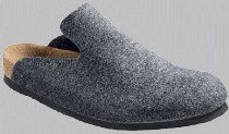 Birkenstock clogs Davos from Birko-Felt in anthracite with a narrow insole
