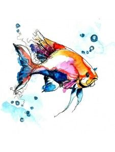 Items similar to Watercolor illustration X on Etsy - This would make a lovely watercolor tattoo Informations About Items similar to Watercolor illustrati - Watercolor Fish, Watercolor Animals, Watercolor Illustration, Watercolor Paintings, Tattoo Watercolor, Fish Art, Painting & Drawing, Art Drawings, Art Projects