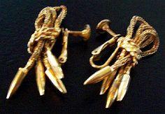 Vintage Earrings Signed HOBE Screw Back by BrightgemsTreasures, $12.50