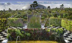 Jardins suspendus   Jean Francois Rauzier Hyperphoto  Projet Arches