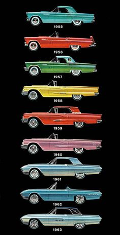 Car Evolution 1955 1963 – What Brand Is This? - www.MadMenArt.com | Vintage Cars Advertisement. Features over 1200 of the finest vintage cars until 1970. Status symbol, pride and sense of freedom. #VintageCars #Vintage #Ads #VintageAds
