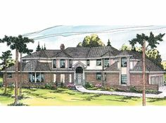 Chateau House Plan with 4147 Square Feet and 5 Bedrooms from Dream Home Source | House Plan Code DHSW01154