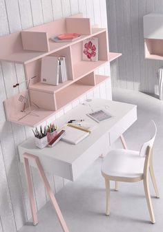 Kids Bedroom Furniture Design, Room Design Bedroom, Girl Bedroom Designs, Room Ideas Bedroom, Home Room Design, Home Decor Bedroom, Study Table Designs, Study Room Design, Study Room Decor