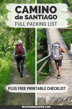 This complete Camino de Santiago packing list works for men and women. Get tips for the trail, including what to take (and what to skip) with advice on backpacks, outfits, and hiking gear.   Camino de Compostela Spain pilgrim packing list with free printable checklist.
