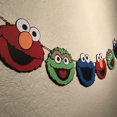 Your place to buy and sell all things handmade Sesame Street Crafts, Sesame Street Decorations, Girl 2nd Birthday, Elmo Birthday, Birthday Ideas, Monster Birthday Parties, Elmo Party, Sesame Street Birthday Cakes, Sesame Street Cake