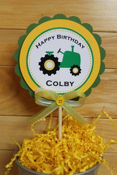 Tractor Birthday Party XL Centerpiece by ExpressionsPaperie, $8.50
