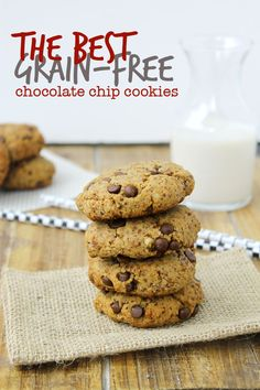 The Best Grain-Free Chocolate Chip Cookies! // thehealthymaven.com #paleo