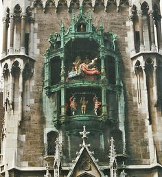 """Munich clock tower. I remind my family every time we are by the Busch Gardens one that I've been to the real one. (And they never say, 'yeah we know""""!)"""