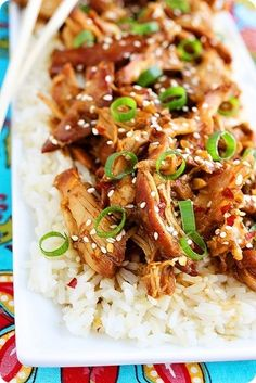 Crock Pot Honey Sesame Chicken (yum with rice and an asian slaw)