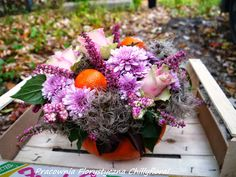 Pracownia Florystyczna Chillyfloral Pumpkin Decorations, Floral Wreath, Wreaths, Flowers, Holiday, Home Decor, Floral Crown, Vacations, Decoration Home
