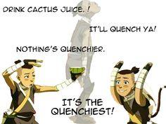 Sokka On Cactus Juice | sokka says DRINK CACTUS JUICE :D - SecretAgentEdElric - DrawingNow