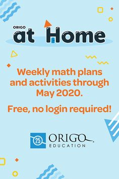 ORIGO Stepping Stones Parents' Portal - Support your child with our Mathematics curriculum for Grades with fun 'at home' activities! Elementary Math, Kindergarten Math, Teaching Math, Preschool, Homeschool Curriculum, Homeschooling, Learning Websites, School Closures, Math Concepts