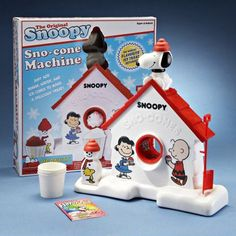 I always wanted a snow cone makers -- especially this one, the Snoopy Snow Cone Maker. I bought a snow cone maker last year for myself. 90s Childhood, Childhood Memories, Sweet Memories, Snow Cone Machine, Sno Cones, Fraggle Rock, Old School Toys, School Fun, Snoopy