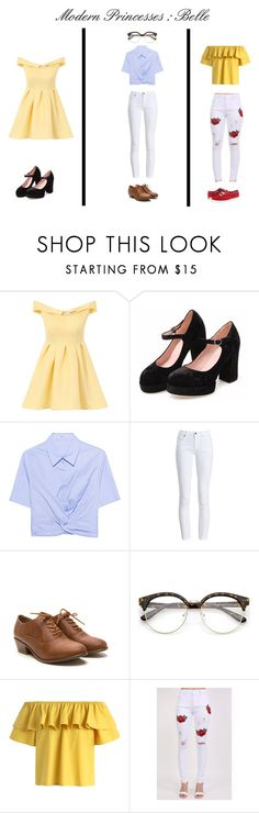 """""""Modern Princesses : Belle"""" by kikobear13 on Polyvore featuring Chi Chi, T By Alexander Wang, Barbour, Chicwish, Pilot, Keds, modern, princess and belle"""